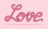 Love text vector — Stock Vector