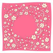 Doodle floral redondo — Vector de stock