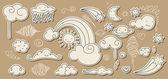 Doodle céu bonito — Vetorial Stock