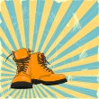 Hand-drawn boots - Stock Vector