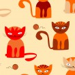 Stock Vector: Seamless cats