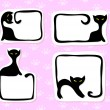 Stock Vector: Cat stickers