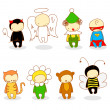 Cute kids in costume — Imagen vectorial