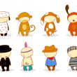 Cute kids in costume - Imagen vectorial