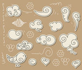 Bulut doodle — Stok Vektör