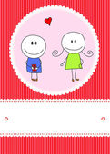 Cute card — Stock Vector