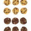 Choc Chip Cookies — Stock Photo