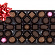 Chocolate Gift Box — Stock Photo