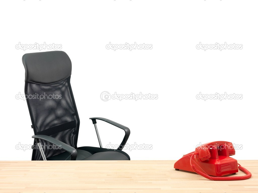 A workplace scene isolated against a white background — Stock Photo #5804270