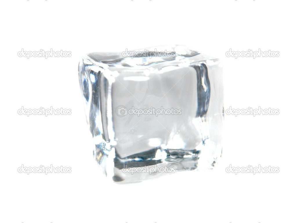 Ice cubes isolated against a white background  Stock Photo #6272529