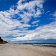 Baltic sea landscape with cloudy sky — Stock Photo