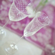 Romantic table dishes decoration — Stock Photo