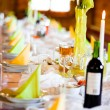 Stock Photo: Romantic table dishes decoration