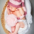 Portrait of a newborn caucasian girl — Foto de stock #6525980