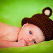Portrait of a newborn caucasian girl — Stock Photo #6525996