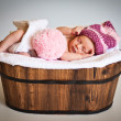 Стоковое фото: Portrait of a newborn caucasian girl