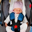 Newborn in car seat — Stock Photo #6640376