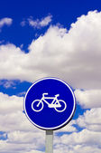 Bicycle traffic sign — Stock Photo