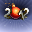 New year 2012 — Stockvectorbeeld