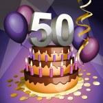 Fiftieth anniversary cake — Stock Vector #5674904