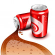Royalty-Free Stock Vector Image: Flowing Cola can