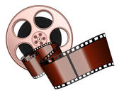 Film roll and strip — Stock Vector