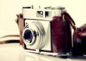 Old fashioned photography camera — Stock Photo