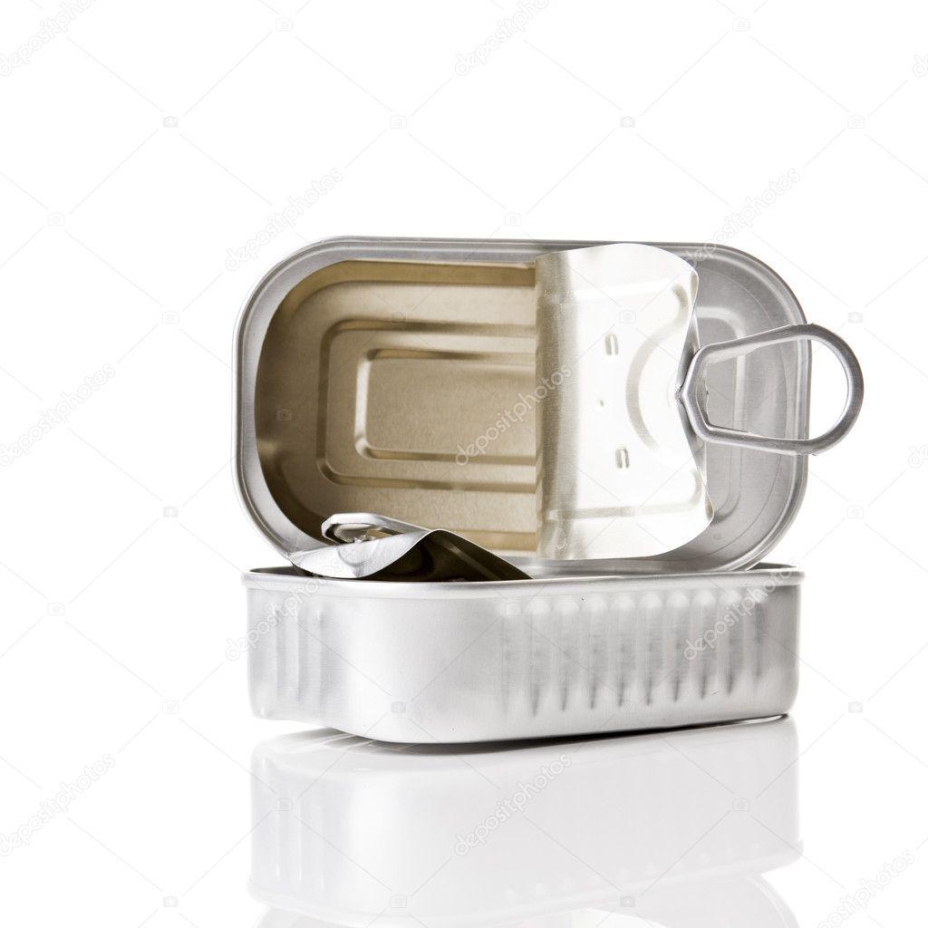 Sardine tin stock photo 5388975 for Empty sardine cans