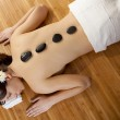 Girl getting a spa treatment — Stock Photo