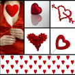 Valentine collage — Stock Photo #5547489