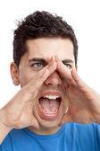 Gritando en voz alta — Foto de Stock