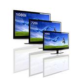 Comparison between 3 TV — Stock Photo