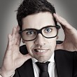 Nerd businessman — Stock Photo