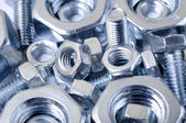 Bolts and nuts — Stockfoto
