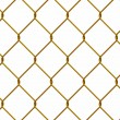 Stock Photo: Gold iron wire fence