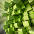 Abstract green cubes background — Stock Photo