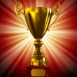Award Golden champion cup-trophy — Stock Photo