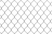 Iron wire fence — Stock fotografie