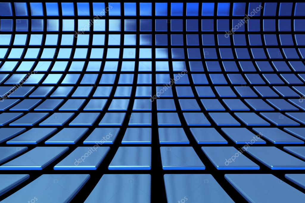 Abstract blue cubes background  — Stock Photo #5997788
