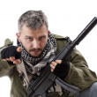 Stock Photo: Terrorist with rifle