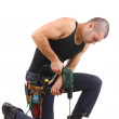 Young man drilling — Stock Photo #5894256