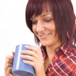 Woman with cup of tea — Stock Photo #5894310