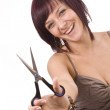 Female cutting herself — Stock Photo