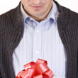 Man with gift — Stock Photo #5894378