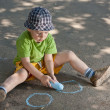 Boy drawing — Stock Photo #5894544