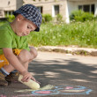 Boy drawing — Foto de stock #5894549