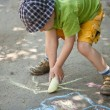 Boy drawing — Stock Photo