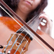 Stock Photo: Girl playing cello