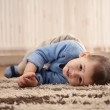 Boy playing and having fun at home — Stock Photo