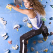 Stock Photo: Athletic girl climbing
